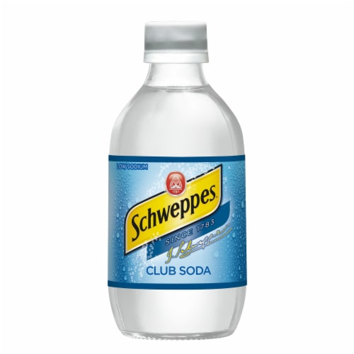 Schweppes Club Soda Perspective: top