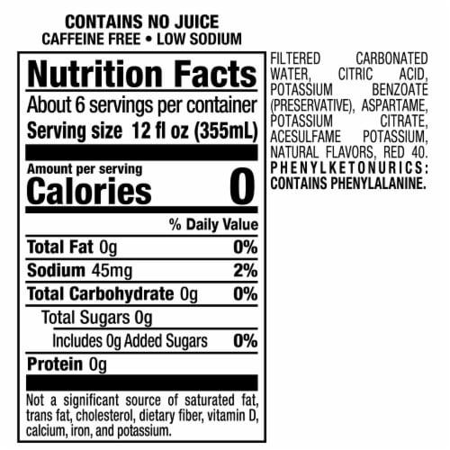 Diet 7UP Cherry Soda Perspective: top