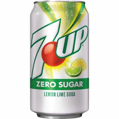 7UP Zero Sugar Lemon-Lime Soda Perspective: top