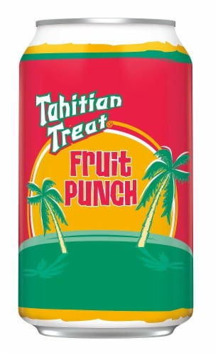 Tahitian Treat Fruit Punch Soda 12 Cans Perspective: top