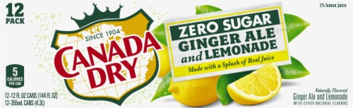 Canada Dry Zero Sugar Ginger Ale and Lemonade Soda Perspective: top