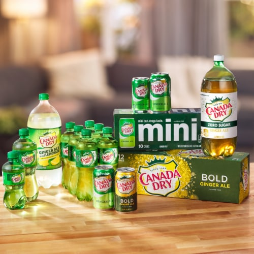 Canada Dry® Bold Ginger Ale Soda Perspective: top