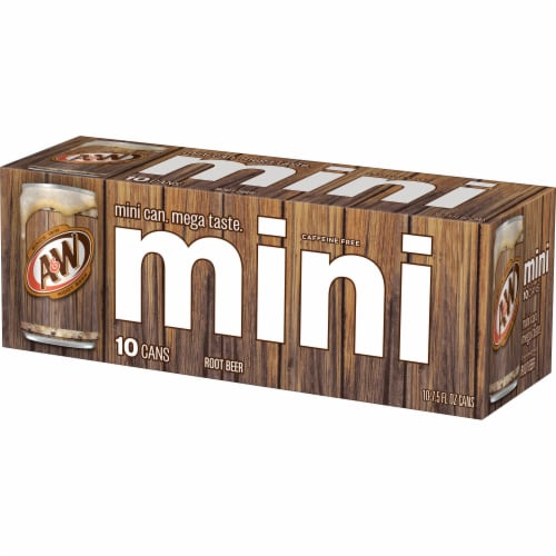 A&W Mini Root Beer Soda Perspective: top