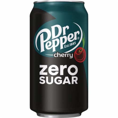 Dr Pepper Zero Sugar Cherry Soda Perspective: top