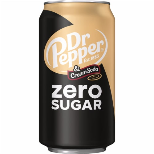 Dr Pepper Zero Sugar Cream Soda Perspective: top