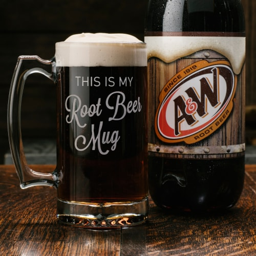 A&W Root Beer Soda Perspective: top