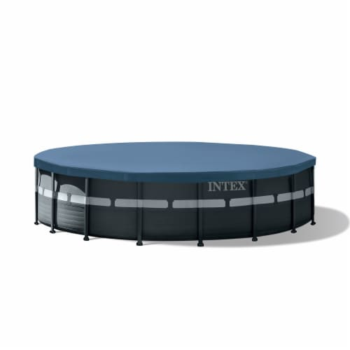 Intex 18Ft x 52In Ultra XTR Frame Round Above Ground Swimming Pool Set with Pump Perspective: top