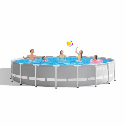 Intex 20ft x 52in Prism Frame Above Ground Swimming Pool Set with Filter Pump Perspective: top