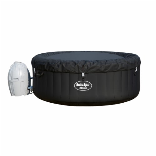 Bestway SaluSpa Miami 4-Person Portable Inflatable Round Air Jet Hot Tub Spa Perspective: top