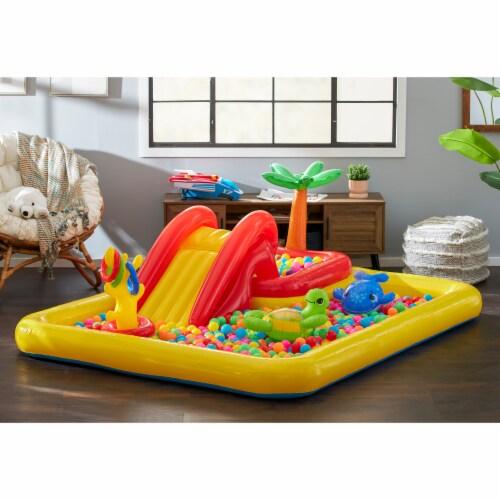 Intex Inflatable Ocean Play Center Kids Backyard Kiddie Pool & Games Perspective: top