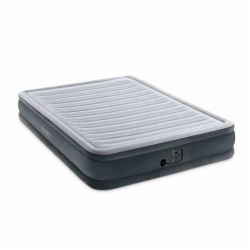Intex Dura Beam Plus Series Mid Rise Airbed Mattress with Built In Pump, Queen Perspective: top