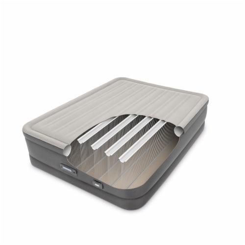 Intex PremAire Dream Support Fiber Tech Air Mattress with Built-In Pump, Queen Perspective: top