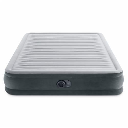 Intex Comfort Deluxe Dura-Beam Plush Air Mattress Bed with Built-In Pump, Queen Perspective: top