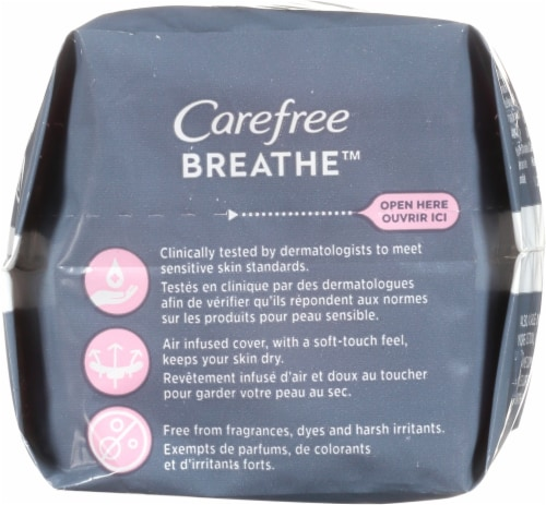 Carefree™ Breathe™ Daily Panty Liners Perspective: top