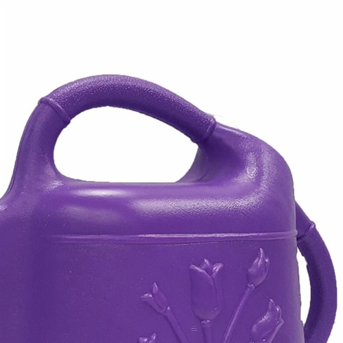 Union Products 63068 Indoor/Outdoor 2 Gallon Plastic Plant Watering Can, Purple Perspective: top