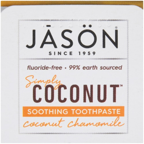 Jason Simply Coconut Soothing Toothpaste Perspective: top