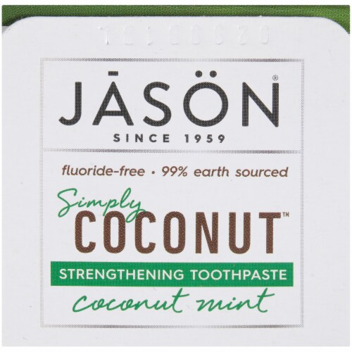 Jason Simply Coconut Strengthening Toothpaste Perspective: top