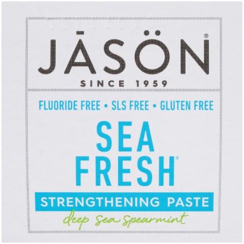 Jason Sea Fresh Deep Sea Spearmint Strengthening Toothpaste Perspective: top