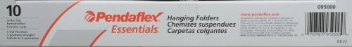 Pendaflex Essentials Hanging Folders Perspective: top