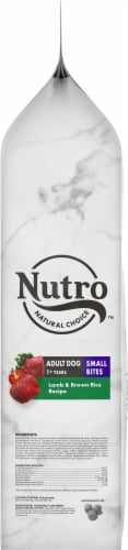 Nutro Wholesome Essentials Small Bites Adult Lamb & Rice Recipe Dry Dog Food Perspective: top