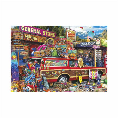 Buffalo Games Aimee Stewart's Family Vacation Puzzle Perspective: top