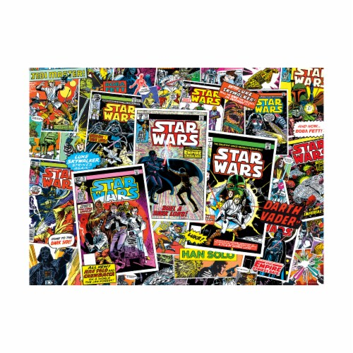 Buffalo Games Star Wars Collage Classic Comic Books Puzzle Perspective: top