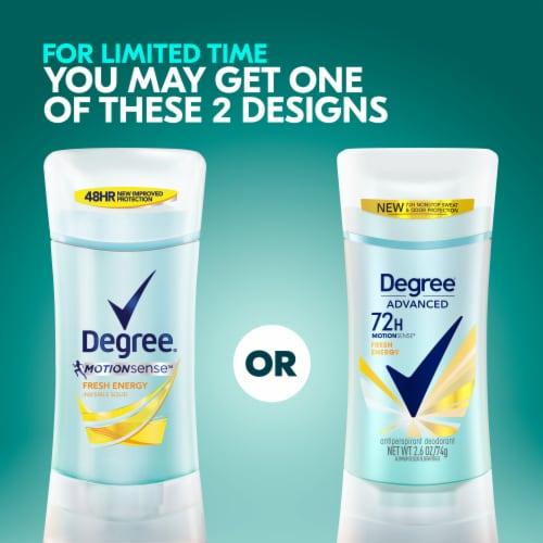 Degree® MotionSense Fresh Energy Antiperspirant Deodorant Stick Perspective: top