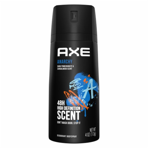 Axe Anarchy Deodorant Body Spray Perspective: top