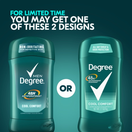 Degree Men Cool Comfort Antiperspirant & Deodorant Stick Perspective: top