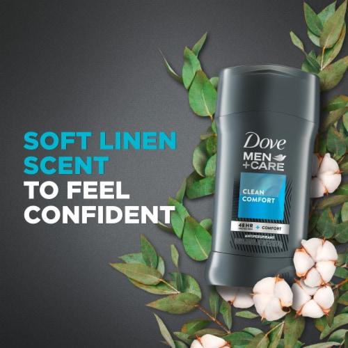Dove Men+Care 48-Hour Protection Non-Irritant Clean Comfort Antiperspirant Deodorant Stick Perspective: top
