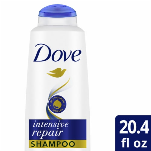 Dove Nutritive Solutions Intensive Repair Strengthening Shampoo with Keratin for Dry Damaged Hair Perspective: top