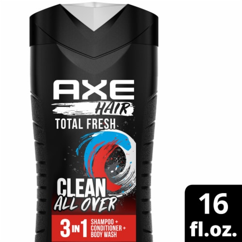 Axe Hair Total Fresh 3-in-1 Shampoo + Conditioner + Body Wash Perspective: top