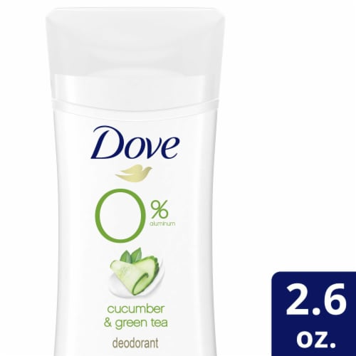 Dove Cucumber & Green Tea 0% Aluminum Deodorant Stick Perspective: top