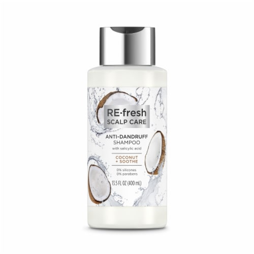 RE-Fresh Silicone-Free Coconut & Soothe Anti-Dandruff Shampoo with Salicylic Acid Perspective: top