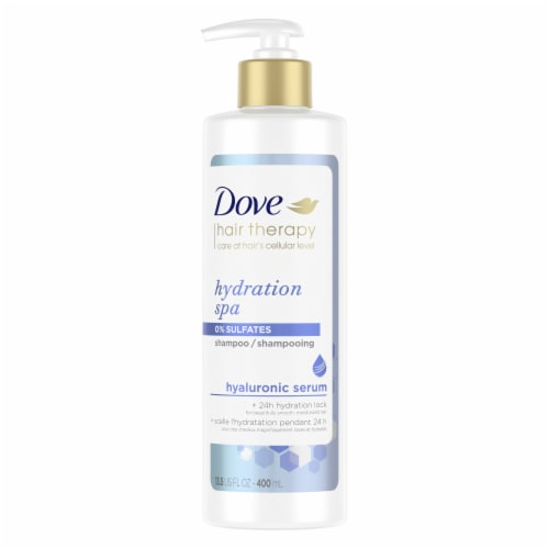 Dove Hair Therapy Hydration Spa Shampoo for Dry Hair Perspective: top