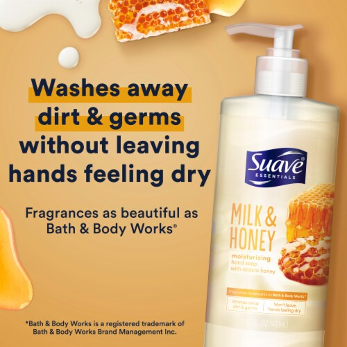 Suave Milk and Honey Hand Soap Perspective: top