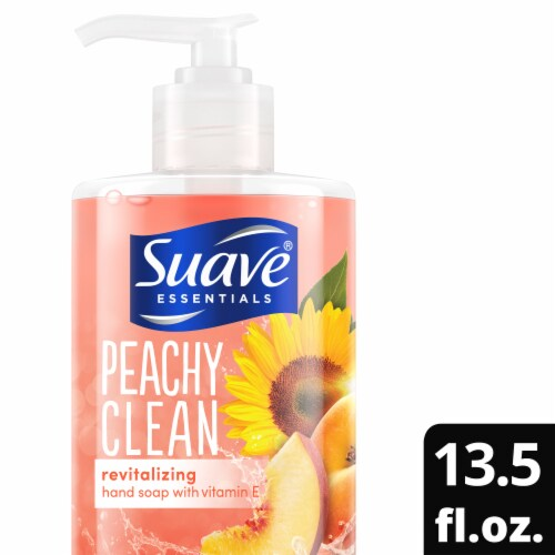 Suave Peachy Clean Revitalizing Hand Soap Perspective: top
