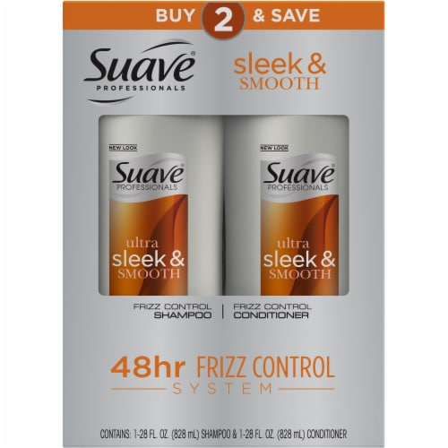 Suave® Ultra Sleek & Smooth Frizz Control Shampoo & Conditioner Perspective: top