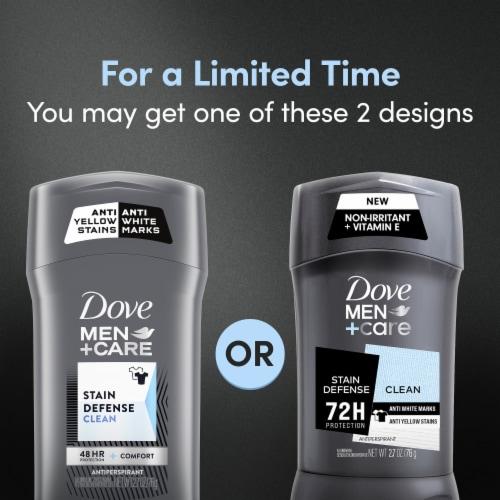 Dove Men+Care 48-Hour Sweat & Odor Protection Stain Defense Clean Antiperspirant Deodorant Stick Perspective: top
