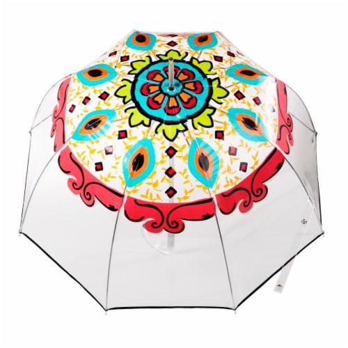 Totes Signature Clear Bubble Umbrella Perspective: top