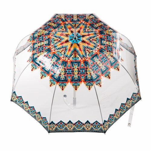 Totes Signature Clear Bubble Umbrella Perspective: top