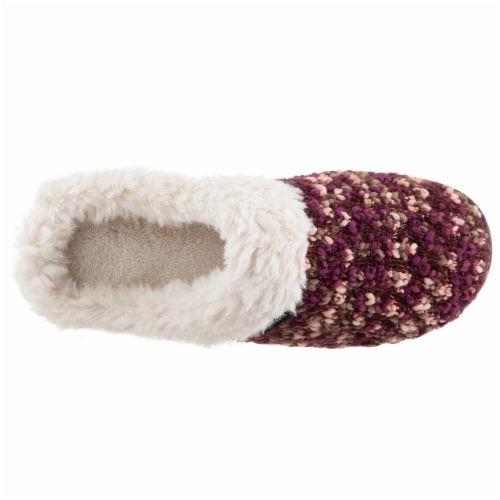 Isotoner® Women's Knit Amanda Hoodback Slippers - Henna Perspective: top