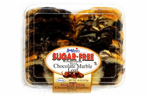 Ann Marie's Sugar Free Sliced Chocolate Marble Loaf Perspective: top