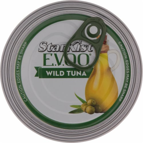 StarKist Selects Solid Yellowfin Tuna with Lemon Dill and Extra Virgin Olive Oil Perspective: top