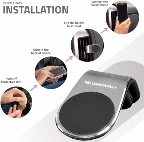 Bell and Howell Clever Grip Pro Portable Magnetic Phone Mount Perspective: top