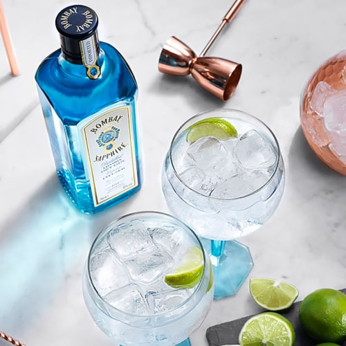 Bombay Sapphire London Dry Gin Perspective: top
