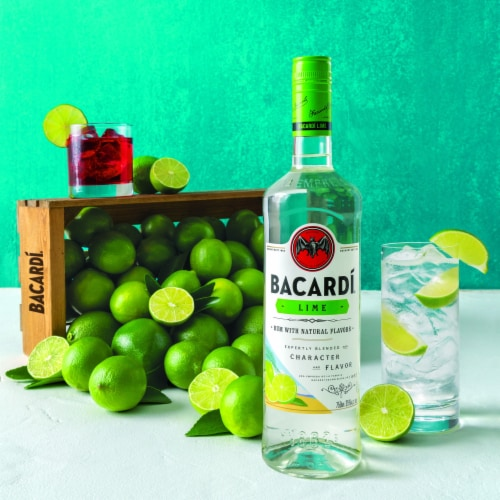 Bacardi Lime Rum Perspective: top