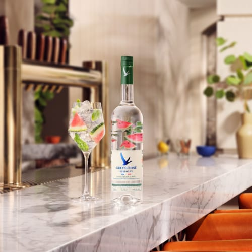 Grey Goose Watermelon & Basil Vodka Perspective: top