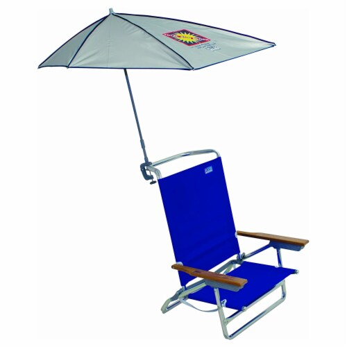 Rio Beach Total Sun Block Clamp On Adjustable Umbrella for Beach & Lounge Chairs Perspective: top