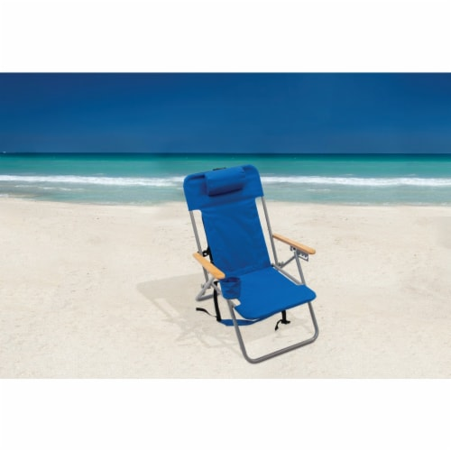 Rio Brands Blue Canvas Backpack Folding Chair SC527-28PK6 Perspective: top